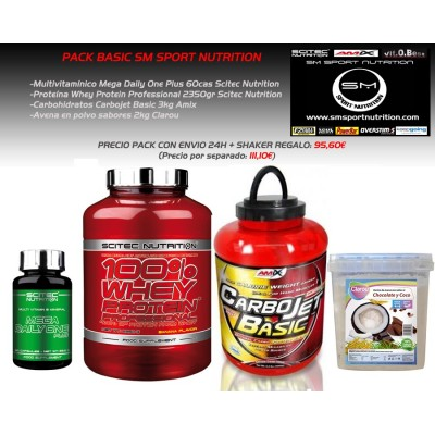 PACK AHORRO BASIC- SM SPORT NUTRITION