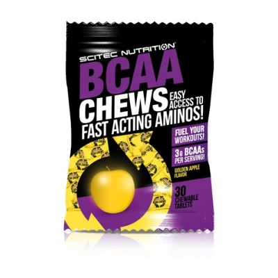 BCAA CHEWS-30UDx1PACK-SCITEC-CARAMELOS MASTICABLES