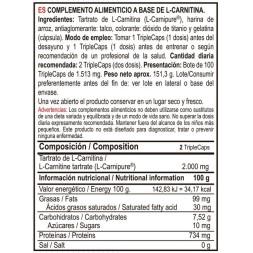 L-CARNITINA 1500 120CAPS VITOBEST