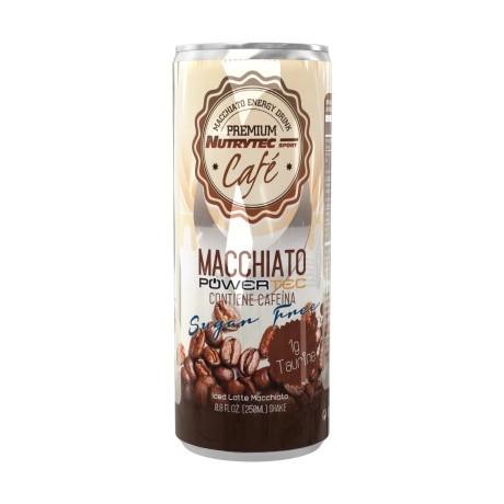 MACCHIATO SIN AZUCAR NUTRYTEC-CAFE+TAURINA-LATA 250ML