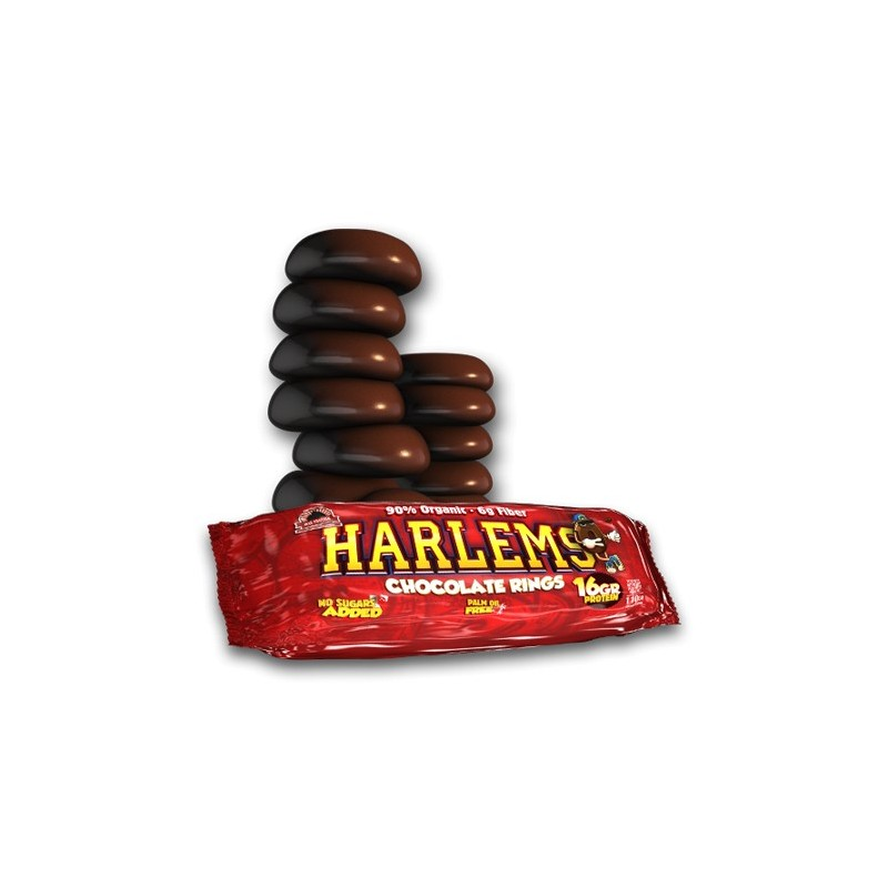 HARLEMS- ROSQUILLAS CRUJIENTES DE CHOCOLATE-1PACK X 9UD-MAX PROTEIN