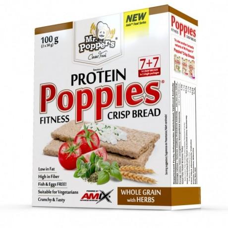 POPPIES CRISP BREAD 100G-Pan sueco- MR POPPERS- AMIX