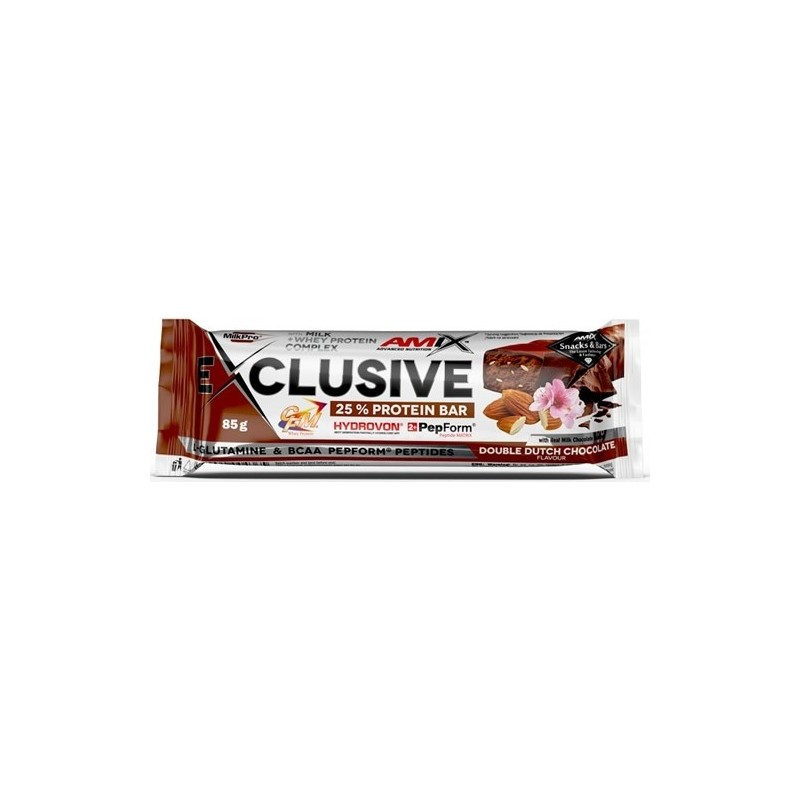 AMIX EXCLUSIVE PROTEIN BAR 1 X 85G- Barrita proteica 25% proteina