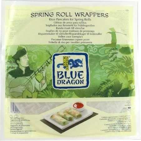OBLEAS WRAP DE ARROZ PARA ROLLITOS -BLUE DRAGON 12UD APROX