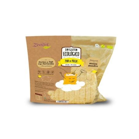 PAN DE MOLDE BIO SIN GLUTEN-ZEALIA-360g Masa madre y fibra prebiótica