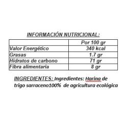 HARINA INTEGRAL DE TRIGO SARRACENO-500 BIOGRÁ