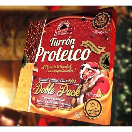 TURRON PROTEICO SIN AZUCARES-DOBLE PACK 400GR-MAX PROTEIN