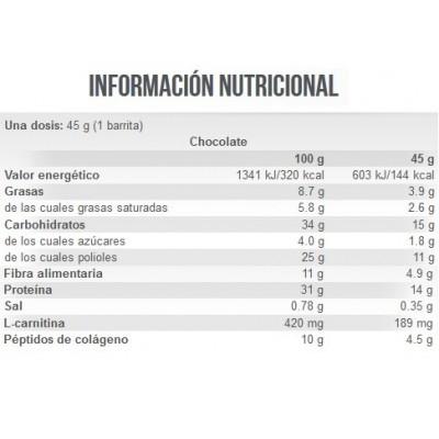 BARRITA PROTEICA Prot N Go - Scitec-Baja en hidratos, azúcar, con colágeno